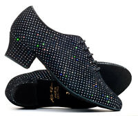 Sparkly Suede Sole Lace Up Practice Jive Ceroc Stage Line Dance Shoes By Katz