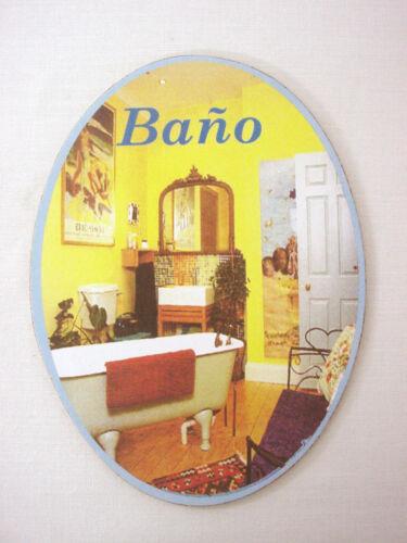 35848 wood sign plaque door sign oval bathroom toilet wc s.l caballer