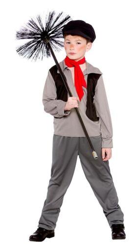 RAGAZZI Vittoriano SPAZZACAMINO COSTUME Libro Settimana Costume Cappello Età 513