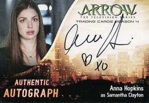Arrow Season 4 Anna Hopkins Samantha Clayton Autograph Card Ah