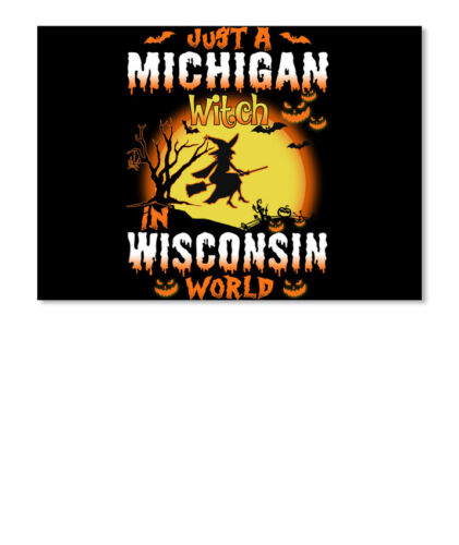 Details about  /Just A Michigan Witch In Wisconsin World Sticker Landscape