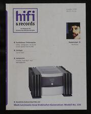 HiFi & Records 1/199 Levinson 335 Altec Audionet Acoustic Signature b&w Nautilus