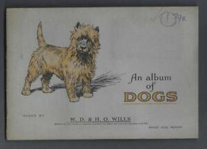 1937-Wills-039-s-Cigarettes-Dogs-Tobacco-Cards-Complete-Set-of-50-in-the-Album