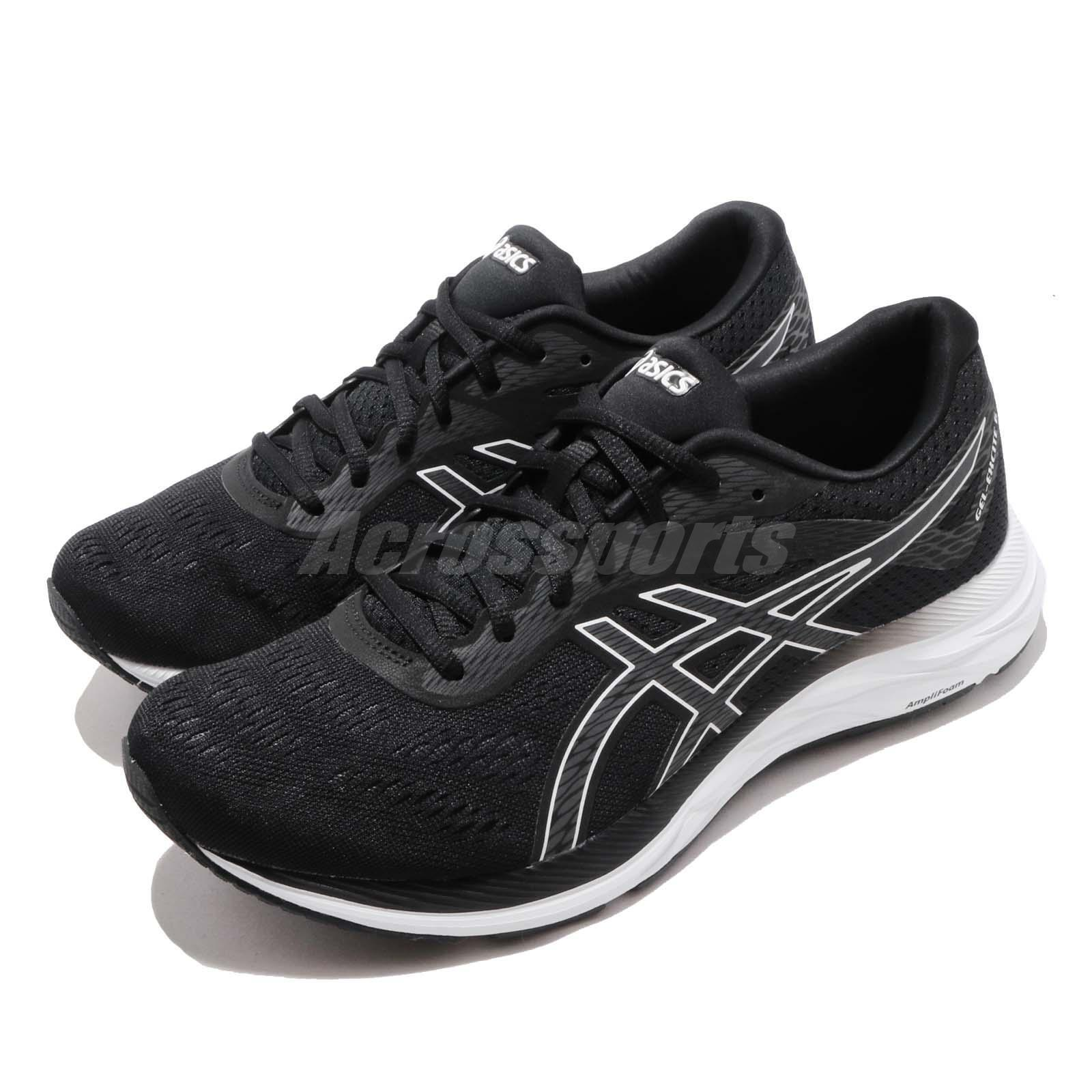 Asics Gel- Excite 6 negro blanco gris Men Running zapatos zapatillas 1011A165-001