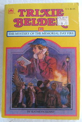 Trixie Belden #35 Mystery of the MEMORIAL DAY FIRE Kathryn Kenny Paperback Book