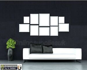 Details About White 10 Piece Multi Picture Frame Photo Frame Collage Wall  Hanging Table Set
