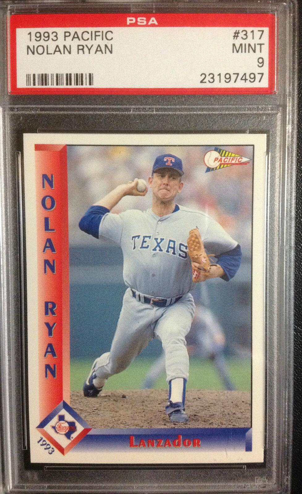 1993 Pacific Spanish Nolan Ryan Texas Rangers 317 Baseball Card