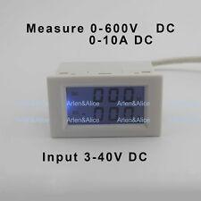 DC voltmeter ammeter range DC 0-600V 0-10A Blue backlight DC 3~40 Input