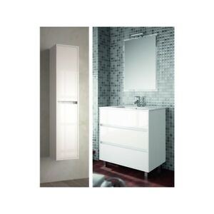 meuble de salle de bain toilette 80 cm au sol avec evier lavabo vasque blanc av ebay. Black Bedroom Furniture Sets. Home Design Ideas