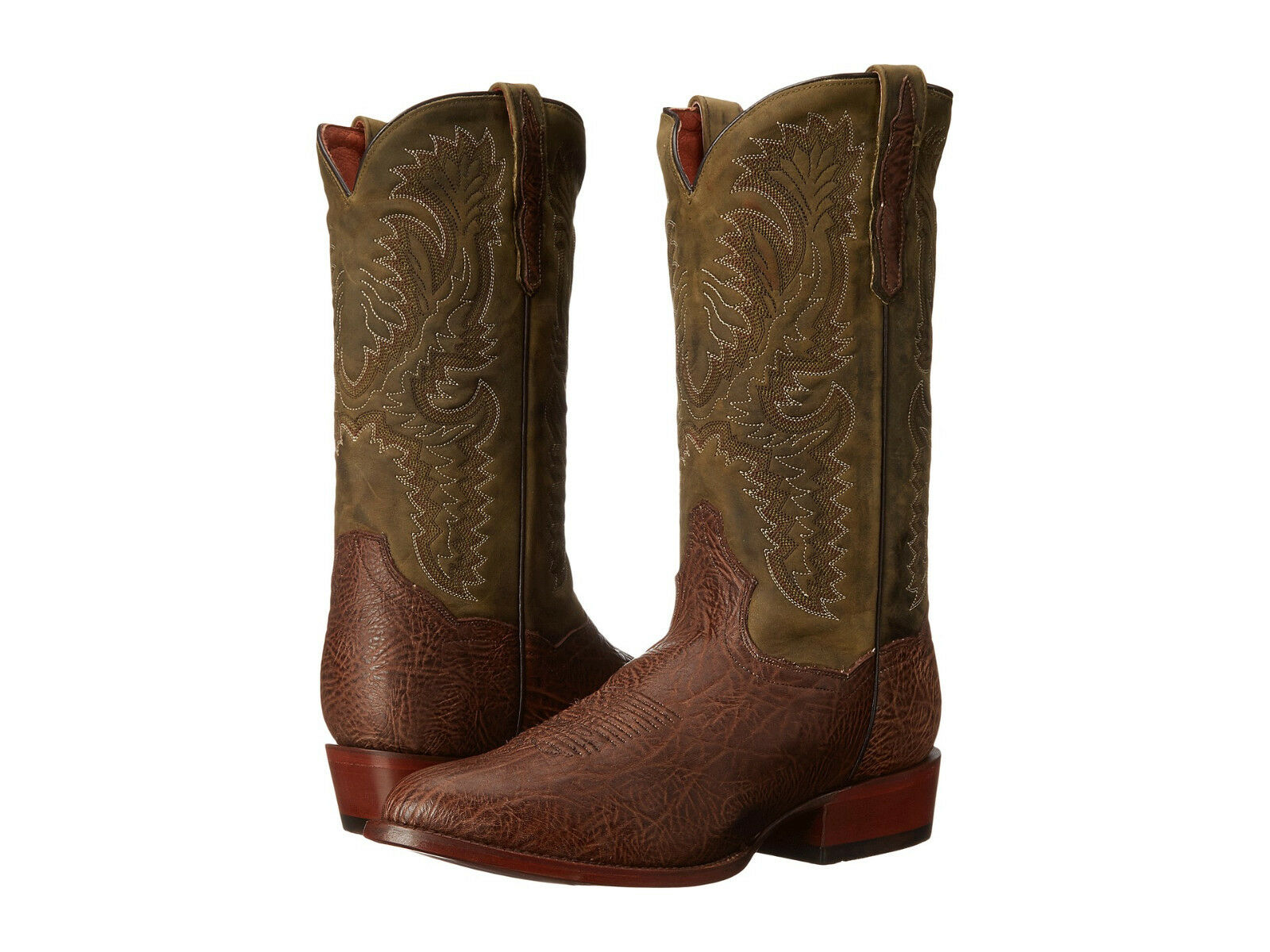 Dan Post Men's DP2195 US 11 D Brown & Green Leather Cowboy Western Boots 250