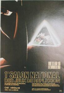 """""""1er Salon Des Jeux De Reflexion/paris 1986"""" Affiche Entoilée Christophe Drochon Lfjparny-07155729-794805891"""