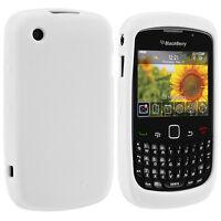 White Silicone Rubber Case Cover for Blackberry Curve 8530 8520 9300 9330