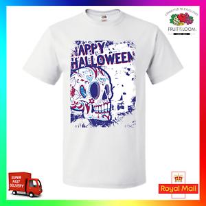0727948ac Happy Halloween TShirt T-Shirt Tee Funny Scary Ghost Sugar Skull Dia ...