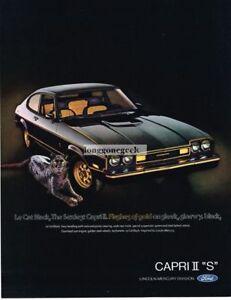 1976 Mercury Capri II S Black Cat Puma Vintage Ad