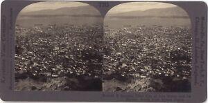 Panorama Da Smyrna Turchia Foto Stereo Stereoview di Carta Analogica Vintage