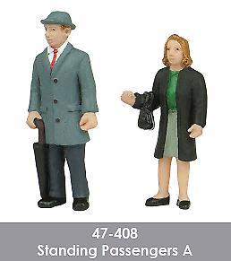 Scenecraft 47-408 Standing Passengers Figures Pack A O Gauge 2PK