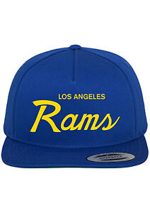 fbfcfa5f145 Image is loading Los-Angeles-Rams-Script-Snapback-Hat-Adjustable-Cap-