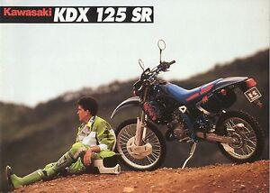 Amical Prospectus Kawasaki 125 Kdx Sr 1992 SuppléMent éNergie Vitale Et Nourrir Yin