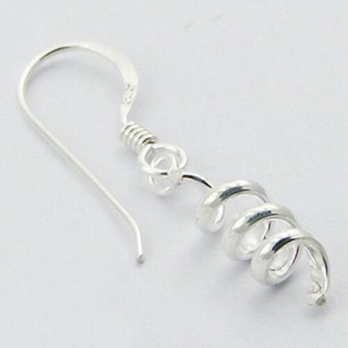 Curly spirales Dangle Crochet Boucles D/'Oreilles Argent Sterling 925 BEST DEAL Bijoux Cadeau