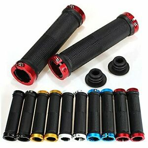 1-Pair-Double-Lock-On-Locking-Mountain-BMX-Bike-Cycling-Bicycle-Handle-Bar-Grips