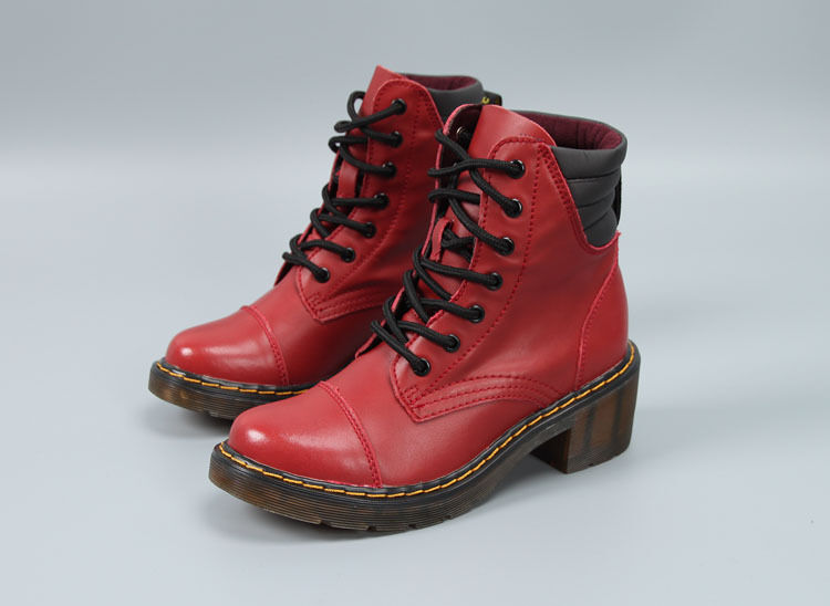 Martin botas suela de cuero tendón transparente para para transparente De mujer, Talla 5.5 Color Rojo ecc621