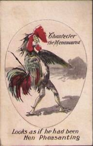 vev-Chicken-Postcard-Looks-as-if-he-had-been-Hen-Pheasanting