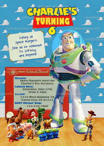 Toy Story Invitation Buzz Lightyear Buzz Birthday Party Invite Ebay
