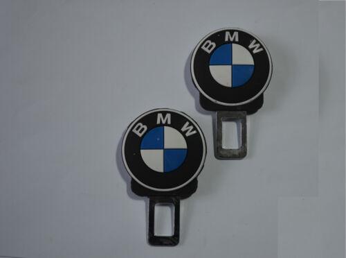 2x BMW Schließe Stecker Car Seat Belt Extender Sicher Schnalle Alarm Stopper