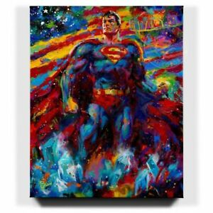 Blend-Cota-Superman-Last-Son-of-Krypton-32-x-40-S-N-LE-Gallery-Wrapped-Canvas