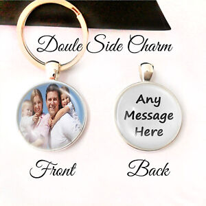 Personalised-Photo-Keyring-Any-Message-Mum-Dad-Birthday-Present-Gift-Mothers-Day