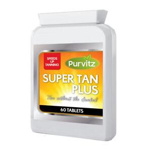 Pillole-Abbronzante-veloce-naturale-SUN-TAN-lavora-veloce-purvitz-di-alta-qualita-Made-in-UK