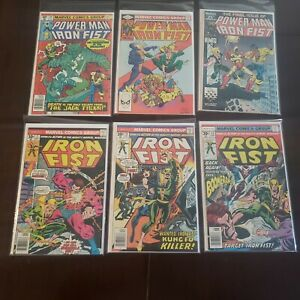 Power-Man-Iron-Fist-66-84-Sabretooth-125-Final-Iron-Fist-7-10-13-Lot-of-6
