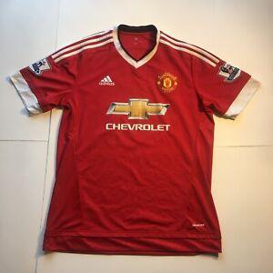 Adidas Manchester United Soccer Futbol Club Jersey Men's Size ...
