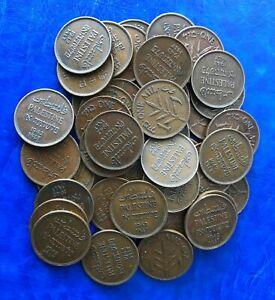 Lot-of-50-Israel-Palestine-British-Mandate-1-Mil-1942-Coins-VF-XF
