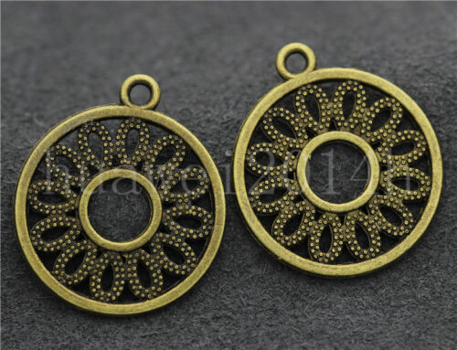 10//40//200pcs Antique Silver Beautiful circular Jewelry Charms Pendant 24x21mm