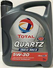 Total Quartz / Elf Ineo MC3 5W30 Engine Oil = 5 Litre LOW EMMISIONS LOW SAPS
