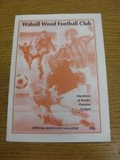 03/09/1994 Walsall Wood v Manders  . We try and inspect all our items and list f