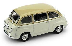 FIAT-600D-MULTIPLA-196O-NUOVO-COLORE-SABBIA-GRIGIO-CHIARO-BRUMM-R333-09