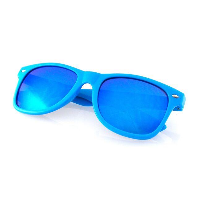 b7b3066d89 Revo Flash Color Mirror Reflective Lens Neon Wayfarer Sunglasses Blue
