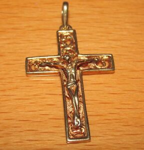 STUNNING SECONDHAND 9ct YELLOW GOLD  CROSS PENDANT - London, United Kingdom - Returns accepted - London, United Kingdom