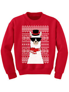 Ugly-Xmas-Sweater-for-Boys-Girls-Kids-Youth-Christmas-Llama-Sweatshirt