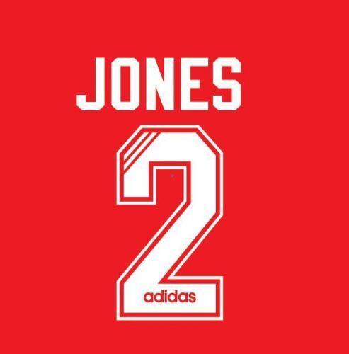 No 2 Jones Liverpool 1995-1996 Home Football Nameset for Shirt LFC