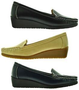 Mocassini-donna-Slipon-traspiranti-Scarpe-basse-eco-pelle-primaverili-comode