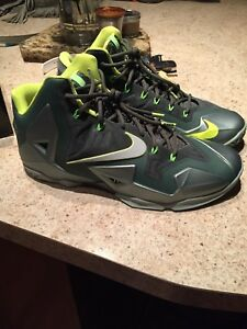 newest 01442 70cc1 Image is loading NIKE-LEBRON-XI-11-DUNKMAN-shoes-DS-GREEN-