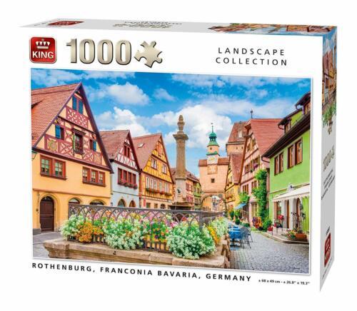 1000 Pezzi Puzzle Rothenburg Bavaria Germania Paesaggi Collezione 55883