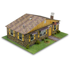 "BK 4312 1:43 Scale ""Sandstone Brick Rambler House"" Photo Real Scale Building Kit"