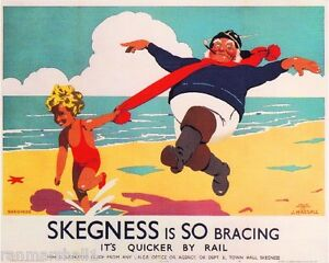 Skegness Great Britain Vintage Travel Advertisement Poster Picture Print