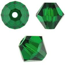Swarovski Crystal Bicone. Emerald Color. 4mm. Approx. 144 PCS. 5328