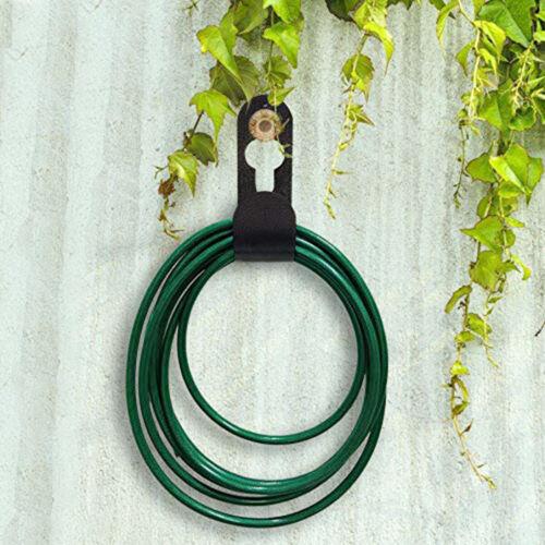 Hose Holder Wall Mounted Hold Hose Duty Rust-Free Hook Hanger Water Hose LA2