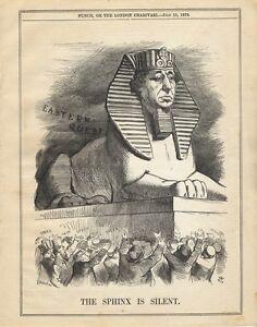 Vintage-Punch-Cartoon-July-1876-Disraeli-as-a-sphinx